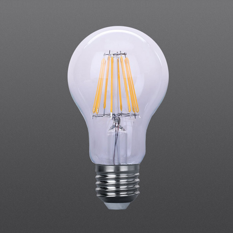 LED Filament bulb 8W clear