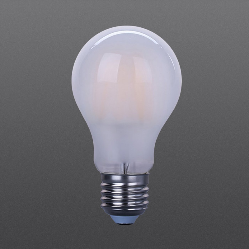 LED filament frosted bulb A60