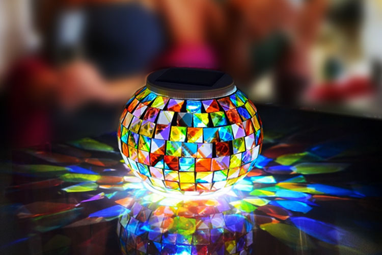 Solar LED festival light jar