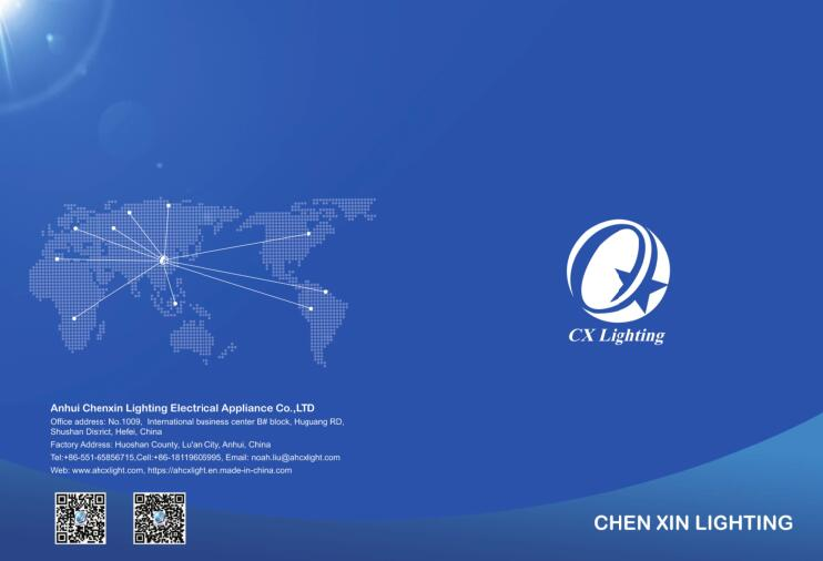 CHEN XIN product brochure