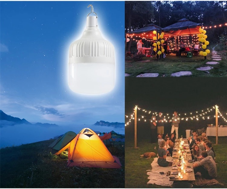Hot Selling LED Light Solar Emergency Bulb 24W with USB Rechargeable