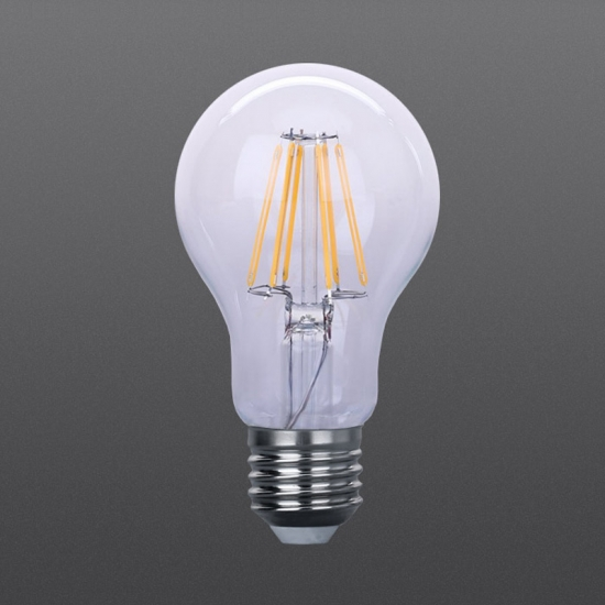 No strobe Clear LED filament bulbs A60