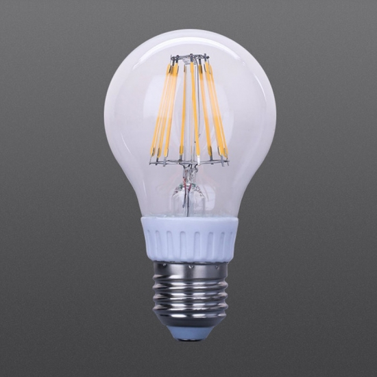 Colorful glass LED filament dimmable bulbs 4W 6W 8W