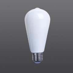 LED filament bulb ST64 white color
