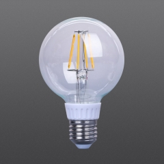LED filament dimmable bulb G80 Clear color