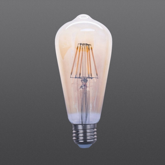 LED filament bulbs ST64 Amber 4W 6W 8W