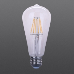 LED filament bulb ST64 clear