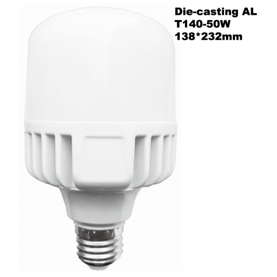 Power Saving Die-casting Aluminum 60W LED T-bulb