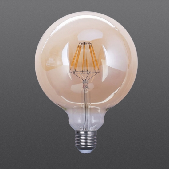 LED filament bulbs G125 White color 4W 6W 8W