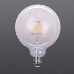LED filament bulb G125 Clear