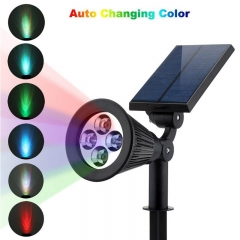 Color changed LED solar lawn light