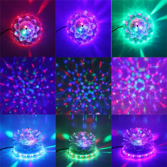 Sun Lotus self-propelled rotation LED stage light 3W