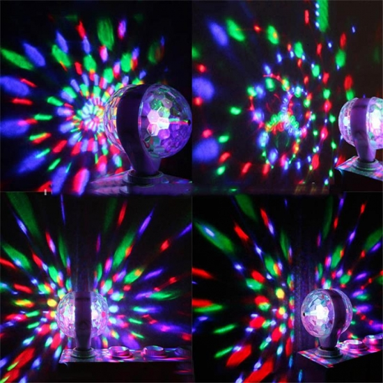 LED party disco lighting double side rotating light