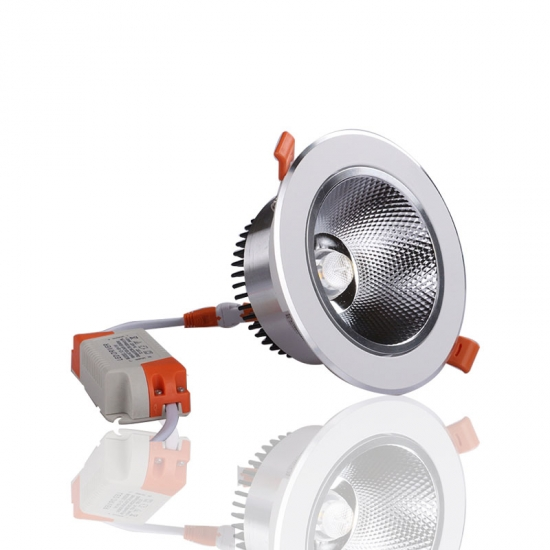 LED COB chip aluminum housing and radiator downlight