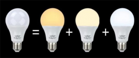 LED A60 bulb 15w  three kind of color temperatures 3000K/4000K/6500K in one unit